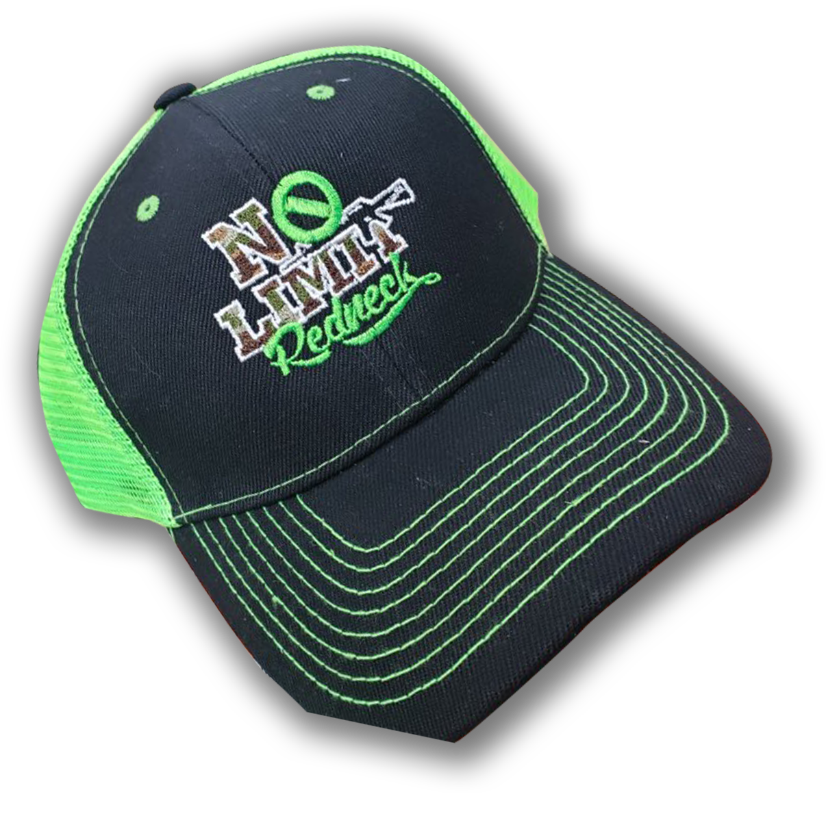 cap-no-limit-redneck-green-black