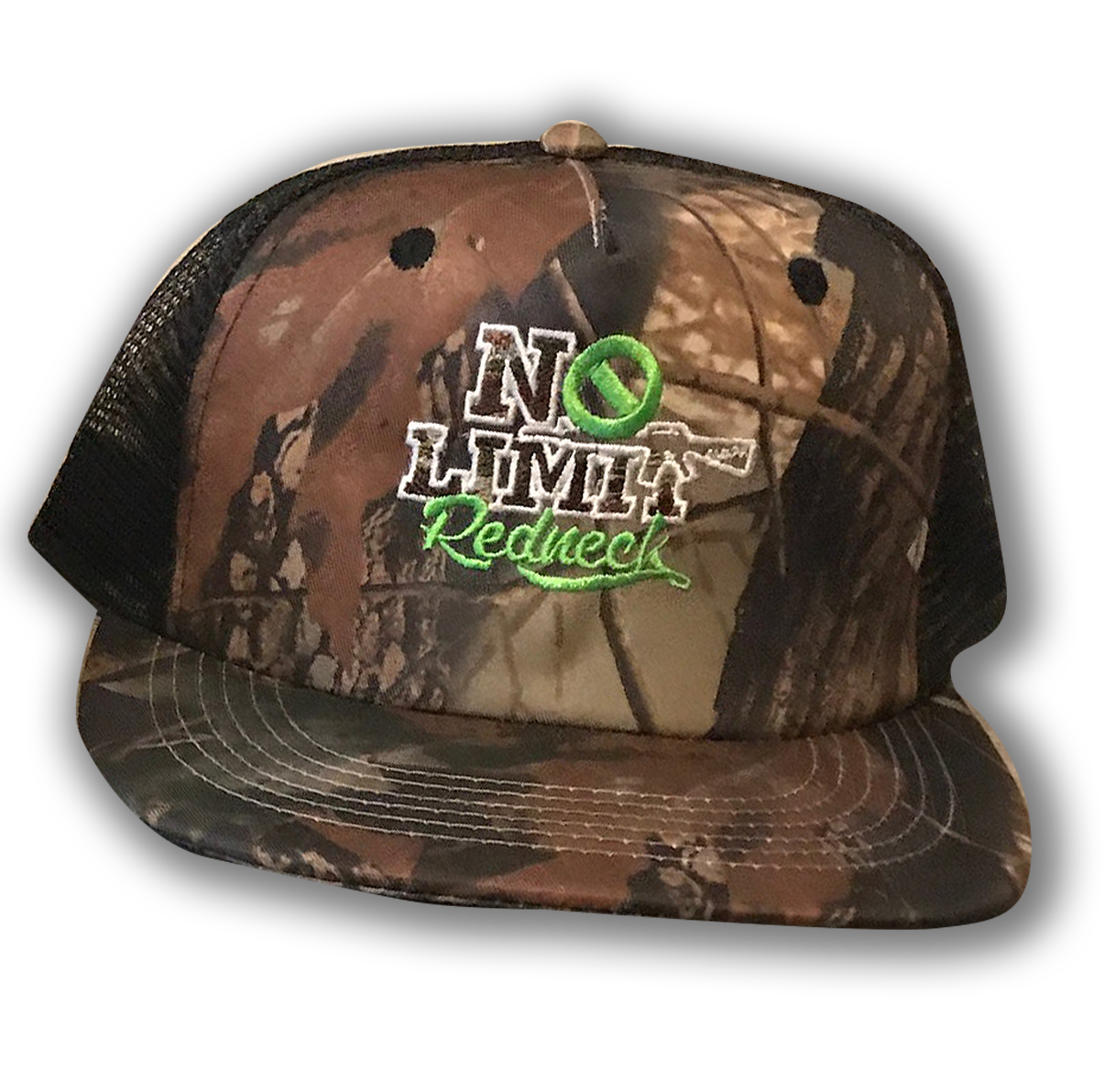 cap-no-limit-redneck-green-camo-black