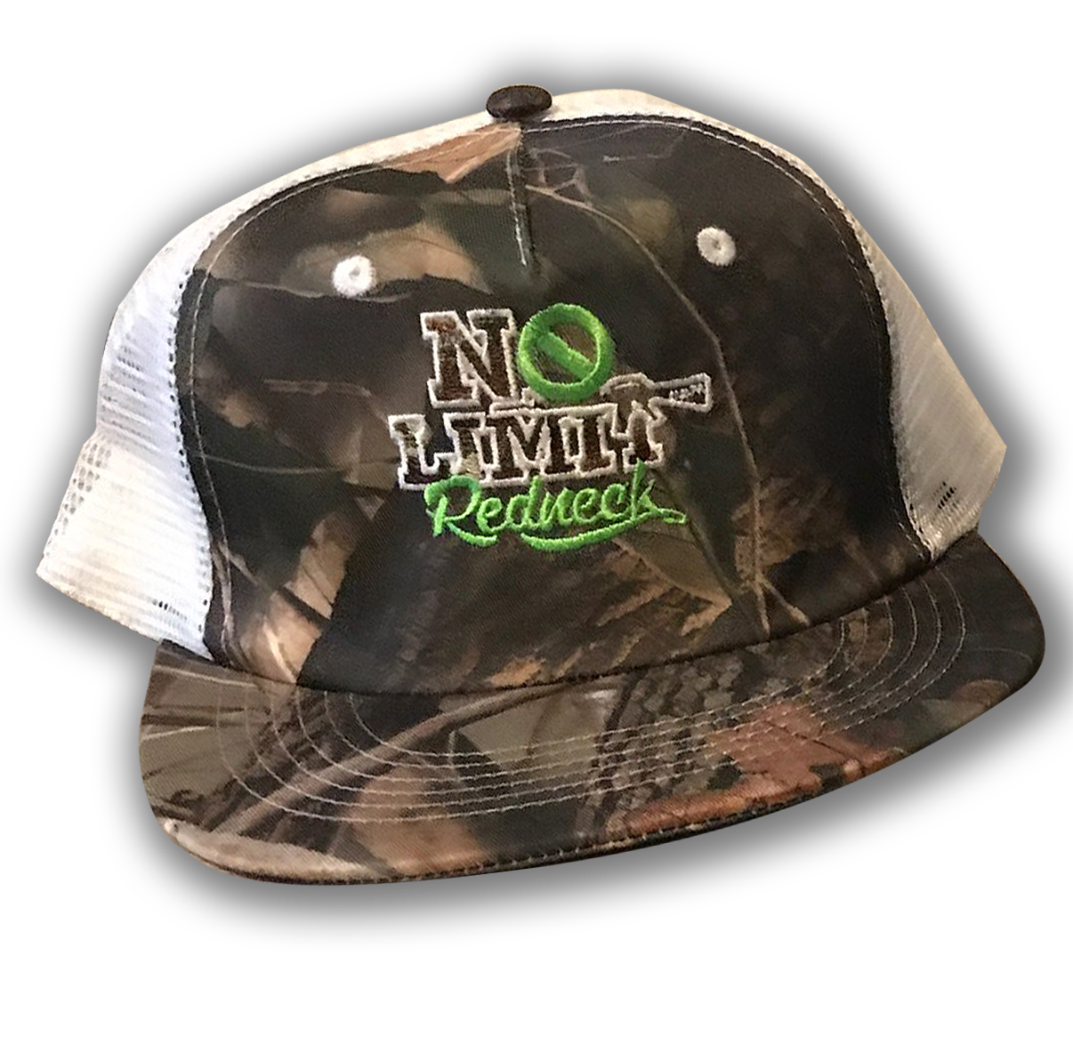 cap-no-limit-redneck-green-camo-white